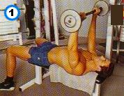 fitness-oefening barbell pullover-1