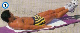 fitness-oefening bent-leg scissor kicks-1