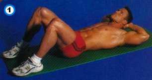 fitness-oefening crunch met de handen achter het hoofd-1