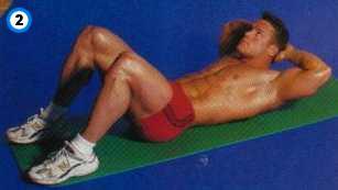 fitness-oefening crunch met de handen achter het hoofd-2