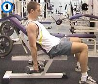 fitness-oefening incline dumbbell curl-1