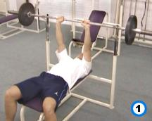 fitness-oefening medium-grip bench presses-1
