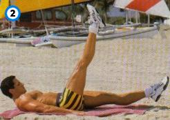 fitness-oefening one-leg straight raises-2