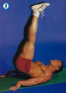 fitness-oefening reverse crunch-2