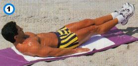 fitness-oefening straight-leg raises-1