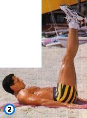 fitness-oefening straight-leg raises-2